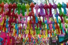 Kolor wszystkie lampion przy wejściem Obrazy Royalty Free