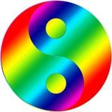 Kolor ying Yang Ilustracji