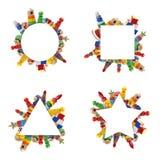 Kolor zabawek granica Obrazy Stock