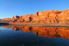 Kolorado-Fluss-Reflexionen Lizenzfreie Stockfotos