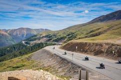 Kolorado Motorcyles, Loveland przepustka - zdjęcie stock