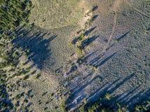 Kolorado plecy wiejska droga Fotografia Royalty Free