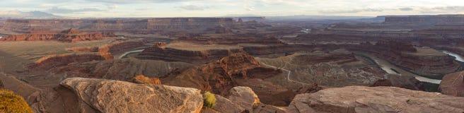 Kolorado Rzeczna panorama od Nieżywego konia punktu Zdjęcie Stock