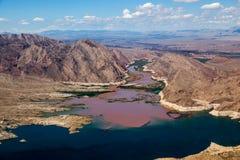 Kolorado rzeka łączy Jeziornego dwójniaka Fotografia Stock