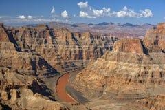 Kolorado rzeka i Uroczysty jar, Nevada, Stany Zjednoczone Fotografia Stock
