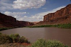 Kolorado rzeka od Potażowej drogi Zdjęcia Stock