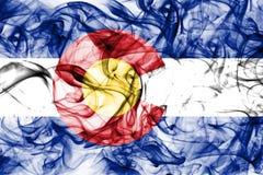 Kolorado stanu dymu flaga, Stany Zjednoczone Ameryka zdjęcia royalty free