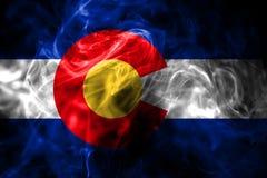 Kolorado stanu dymu flaga, Stany Zjednoczone Ameryka royalty ilustracja