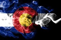 Kolorado stanu dymu flaga, Stany Zjednoczone Ameryka ilustracja wektor