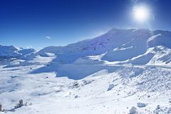 Kolorado zimy panorama zdjęcie royalty free