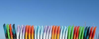 Kolorful Kayaks Royalty Free Stock Photography