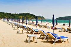 Kolorowa łóżko plaża na nai Han plaży Fotografia Stock