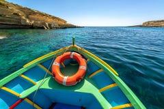 Kolorowa łódź w Malta zdjęcia stock