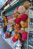 Kolorowa łozinowa piłka Łozinowa bambusowa balowa dekoracja zdjęcia stock