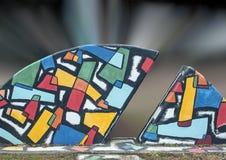 Kolorowa Abstrakcjonistyczna grafika w sztuka parku, Głęboki Ellum, Dallas, Teksas Zdjęcie Stock
