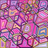 Kolorowa abstrakcjonistyczna tło menchia kształtuje tło Fotografia Royalty Free