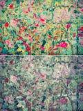Kolorowa abstrakcjonistyczna tło tekstura w rocznika koloru secie Obraz Stock
