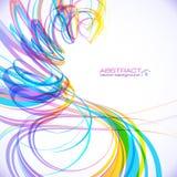 Kolorowa abstrakcjonistyczna technologia wektoru spirala Zdjęcia Royalty Free
