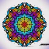 Kolorowa abstrakcjonistyczna wektorowa kurendy koronka. ilustracja wektor