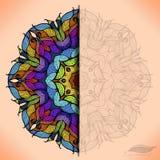 Kolorowa abstrakcjonistyczna wektorowa kurendy koronka. Fotografia Stock