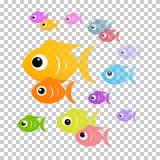 Kolorowa abstrakt ryba ilustracja royalty ilustracja