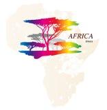 Kolorowa AFRYKA mapa Obrazy Stock