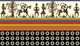 Kolorowa afrykanin granica ilustracji