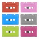 Kolorowa analog kasety taśma zdjęcie royalty free