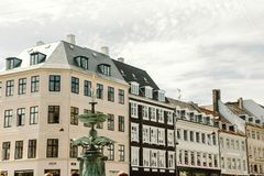 Kolorowa architektura w Kopenhaga, Dani zdjęcie royalty free