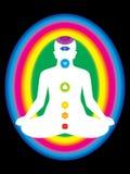 Kolorowa aura z wszystkie chakras ciało Zdjęcie Royalty Free