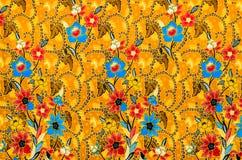 Kolorowa batikowa sukienna tkanina zdjęcie royalty free