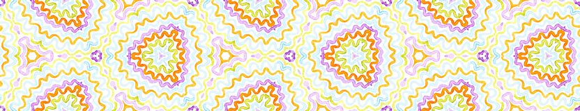Kolorowa Bezszwowa Rabatowa ślimacznica Geometryczny Waterco ilustracja wektor