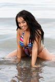 kolorowa bikini dziewczyna Zdjęcie Royalty Free