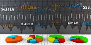 Kolorowa Biznesowa mapa, raporty i prezentacje, Fotografia Stock