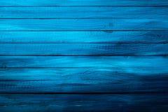 Kolorowa bogata błękitna drewniana tło tekstura Zdjęcia Stock