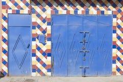 Kolorowa brama w Marrakesh Obraz Stock