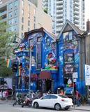Kolorowa budynku puszka kościół ulica obraz royalty free