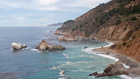 kolorowa California linia brzegowa Obraz Royalty Free