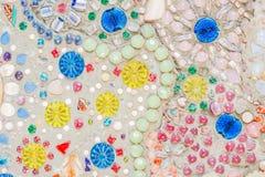 Kolorowa ceramiczna deseniowa dekoracja Zdjęcia Royalty Free