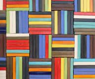 Kolorowa ceramiczna liniowa dachówkowa tekstura Zdjęcie Stock