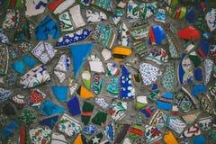 kolorowa ceramiczna mozaika na budynku Obraz Royalty Free