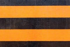 Kolorowa ceramicznych płytek mozaika - pomarańcze i czerń Obraz Stock