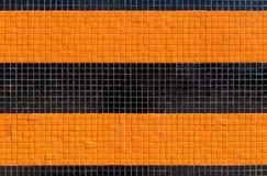 Kolorowa ceramicznych płytek mozaika - pomarańcze i czerń Obraz Royalty Free
