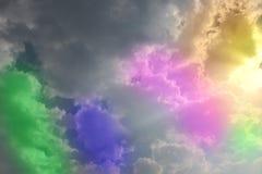 Kolorowa chmura i niebo fotografia stock