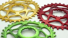 Kolorowa Czarna owalna rowerowa chainring przekładnia zbiory wideo