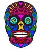kolorowa czaszka royalty ilustracja