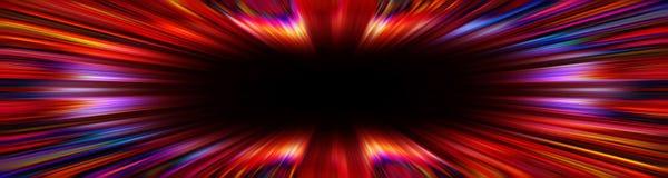 Kolorowa czerwona starburst wybuchu granica ilustracja wektor