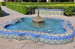 Kolorowa Dachówkowa fontanna Fotografia Stock