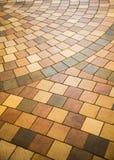 Kolorowa Dachówkowa podłoga dla tła obrazy royalty free