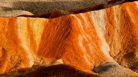 Kolorowa Danxia landform grupa Zdjęcie Stock